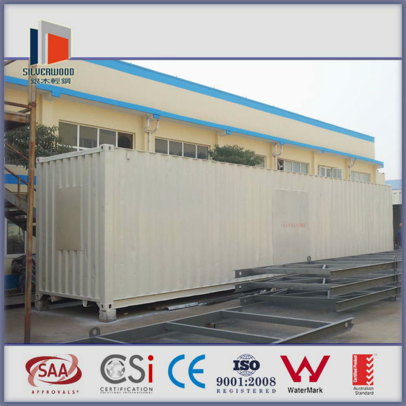 single storey moveable shipping container house with CE certificated