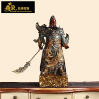 Chinese ancient hero bronze guan yu statue with sword