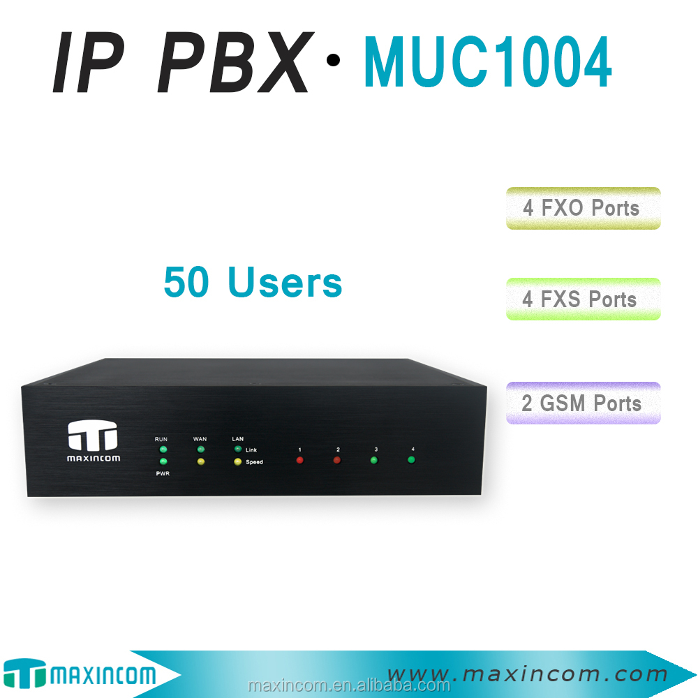 50 users pabx telephone system support voice recording intercom system for SMB using