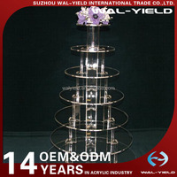 Multi-Tier clear wedding decoration clear acrylic cake display rack