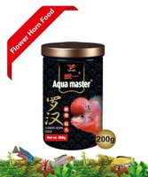 Aqua master Ornamental fish food Series: High protein forehead-up formula Flower Horn & Cichlid food 2.8-3.0mm packing 500g