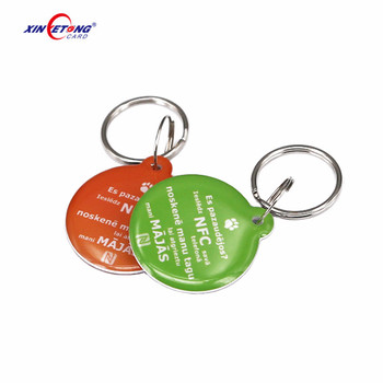 Wholesale custom printing 13.56mhz contactless programmable smart rfid nfc epoxy tag
