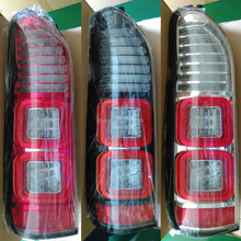 Auto spare parts modification black white red bottom led tail lamps for new Toyota hiace commuter van KDH 200