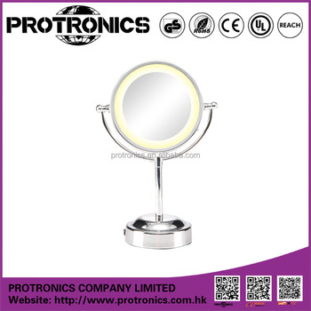 JM-704 LED Light Mirror cosmetic beauty Table Mirror double size