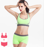 Top quality Wholesale Seamless Hot Sexy Custom Women Sports Bra+Brief