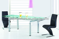 Luxury morden adjusted glass dining table SDT-253