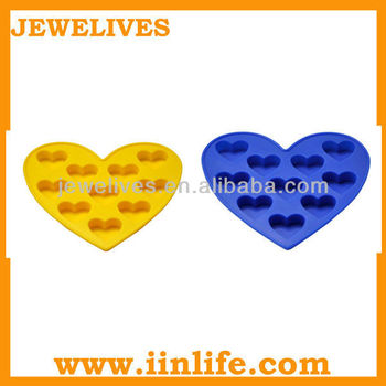 Kitchenware Heart shaped Silicone Ice Mold/Heart shaped Silicone Ice Cube/Silicone Ice Tray