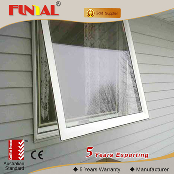 2016 hot sale Australia style aluminum window,high quality double tempered glass casement window manufacturer
