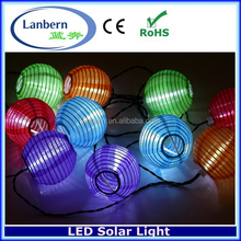 2016 new no extra wire 10LEDS outdoor Christmas Wedding Party decoration String Light Chinese Inflatable Solar LED Lantern