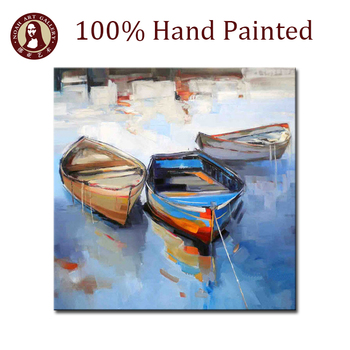 Wall decoration for bar sailing boats abstract paintings