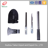 4 in 1 multifunction survival shovel for camping chinese military shovel