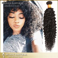 Long hair high quality 7a grade malaysia curly hair extensions natural black color