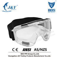 2015 HOT Sales Anti-Fog Approved Safety Wide-Vision Lab Protection Chemical Splash/Impact Goggle with band