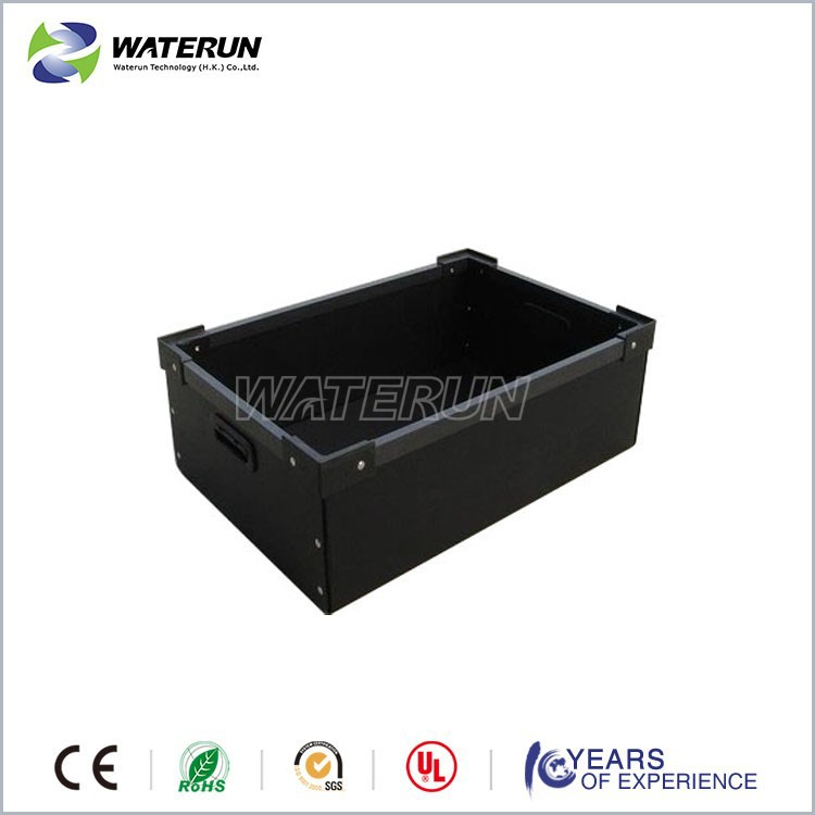 esd plate sheet crate, corrugated plastic storage box