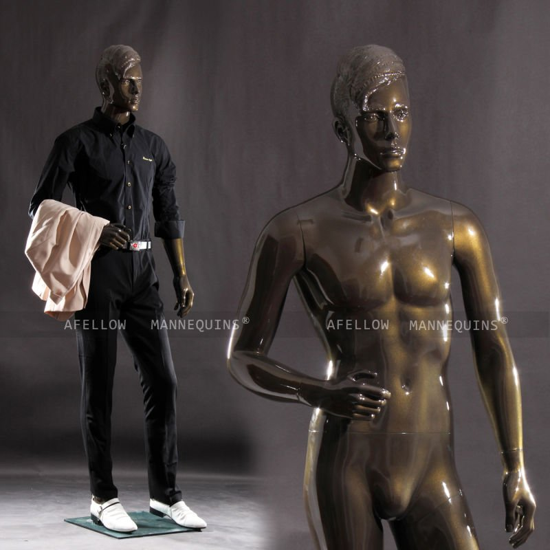 Male mannequin realistic AFELLOW fullbody mannequin glossy bronze mannequin maniqui Bruce1