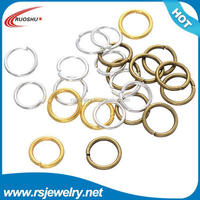RS-5018 Factory outlet jewelry finding, 0.9*12mm metal iron mixed colored wholesale colored jump rings