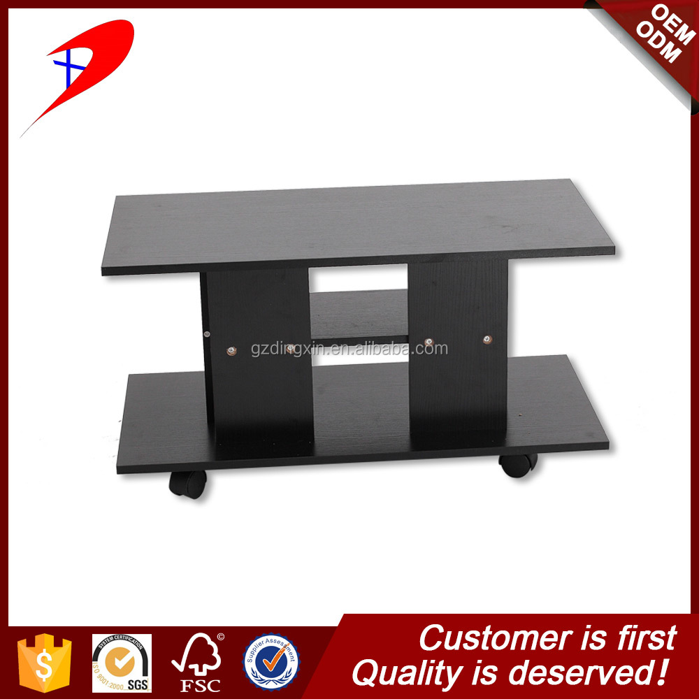 DX hot sale wooden tv stand with big wheels cooler laptop stand made in china
