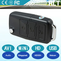 HD 1280*960 30fps 5megapixels car key hidden digital camera USB interface rechargeable PC webcam 16GB TF card long working time