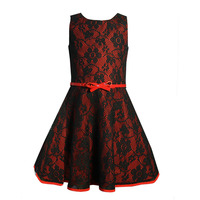 beautiful long frocks images red black flower girl dresses