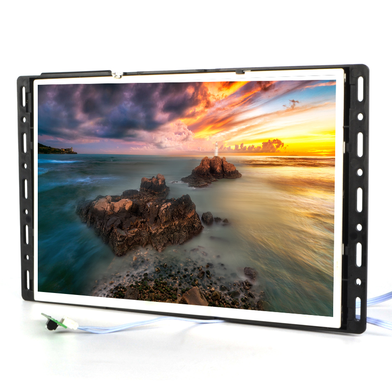 10 inch LCD transparent commercial display systems power saving push button easy install