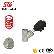Thread type pneumatic angle seat valve for steam stainless steel seat valve