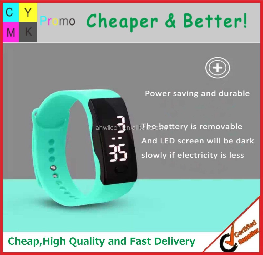 Custom Fashion Sport style LED digital watch, Promotional Fashion Silicon Watch