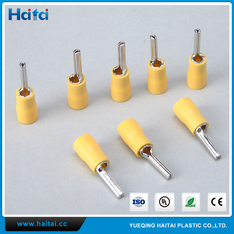 Haitai Special Customized PTV Cable Insulated Electrical Pin Terminal Lug Connector