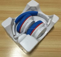 ESD white PS blister packaging tray for headphone,ESD clear PVC/PET earphone packaging tray with factory price