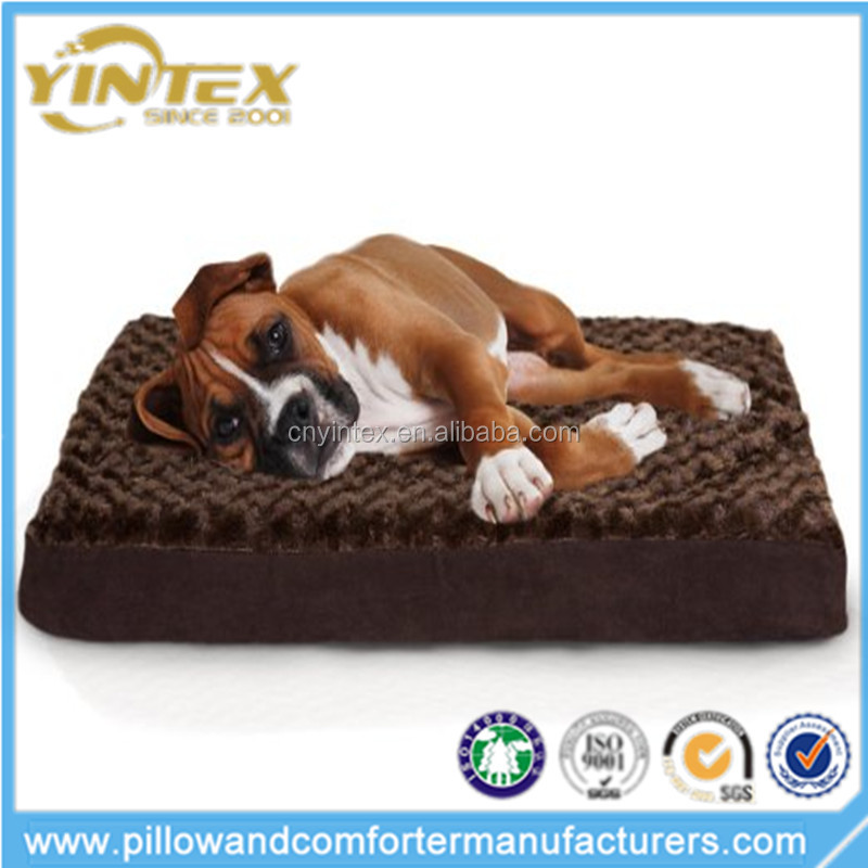 Hot Sale Solid Color Ultra Plush Orthopedic Mattress Pet Bed for Dogs and Cats
