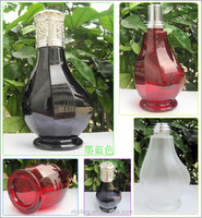 Practical machine made glass incense oil burner with light metal cap for air freshener