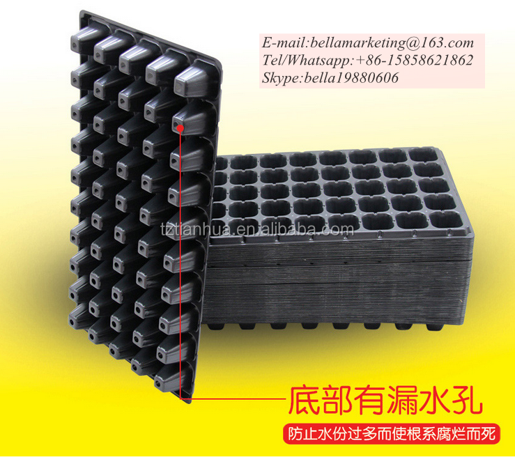 High Quality Competitive Price Plastic Material and Seed Trays Type plastic nursery trays for garden 32 to 512 cells