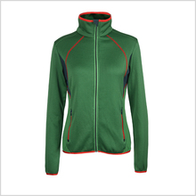 OEM green thin casual thin outdoor women elegant fleece jacket