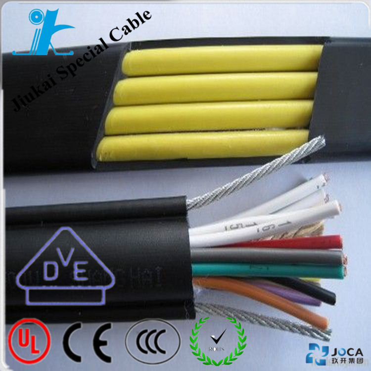 Low voltage flexible flat cable H07VVH6-F 6x1.5mm2 with DIN VDE 0281