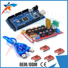 Mega 2560 R3 + RAMPS 1.4 + 4X A4988 For Ardu RepRap ( including heat sink )