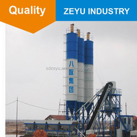 Hot sale hzs60 concrete mixing plant , total station and price new batching plant