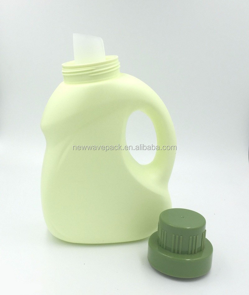 popular high quality hdpe plastic material 1000ml/1L liquid laundry detergent bottles