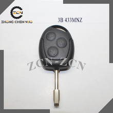Hot price car remote key Fo-r-d 3 button remote key ford mond-e-o remote key 433 mhz