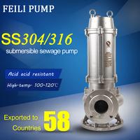 5.5 hp sewage pump china low price sump pump stainless steel pump impeller
