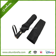 Top quality 25 inch 10 ribs large size compact 3 fold umbrella