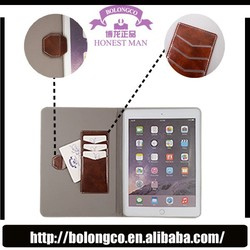 kid proof tablet case silicone protective case stand leather case for iPad 2 with credit card slots