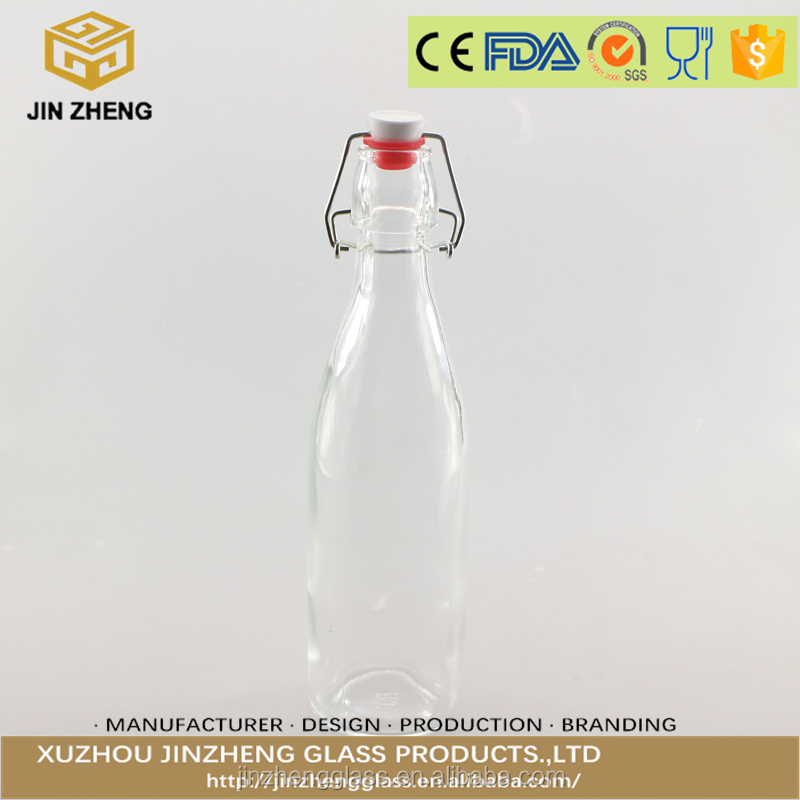 Easy Cap Clear Beer 750ml swing top bottle glass bottles great for juice weddings sauce