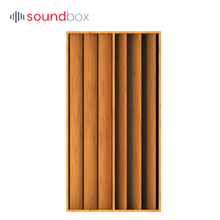 Factory specializing made ultramicropore glass fiber acoustic wood wall diffuser panel