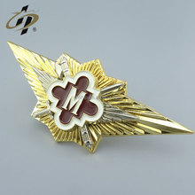 Wholesale custom metal badge emblem with pin backing