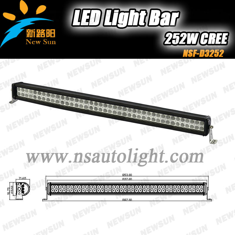 35 inch 252w c ree off road led light bar, led driving light spot & flood & Combo beam for 4x4 SUV ATV 4WD truck UTV CE IP67