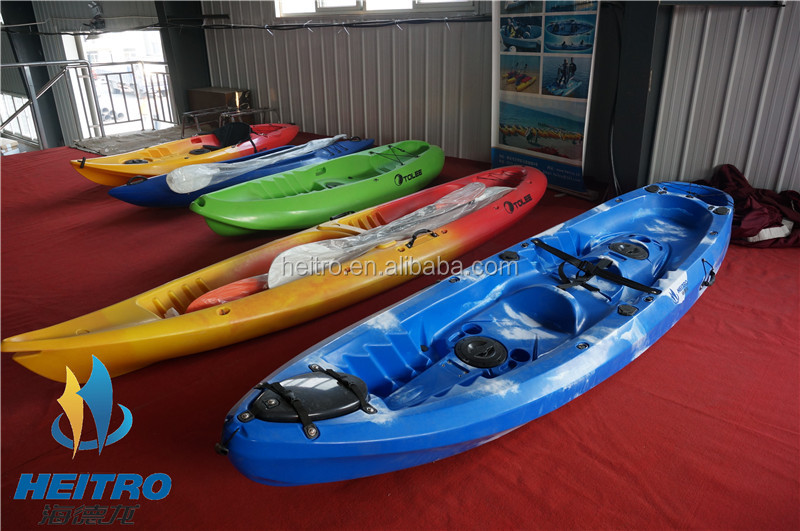 HEITRO fishing kayak plastic canoe kayak for two person