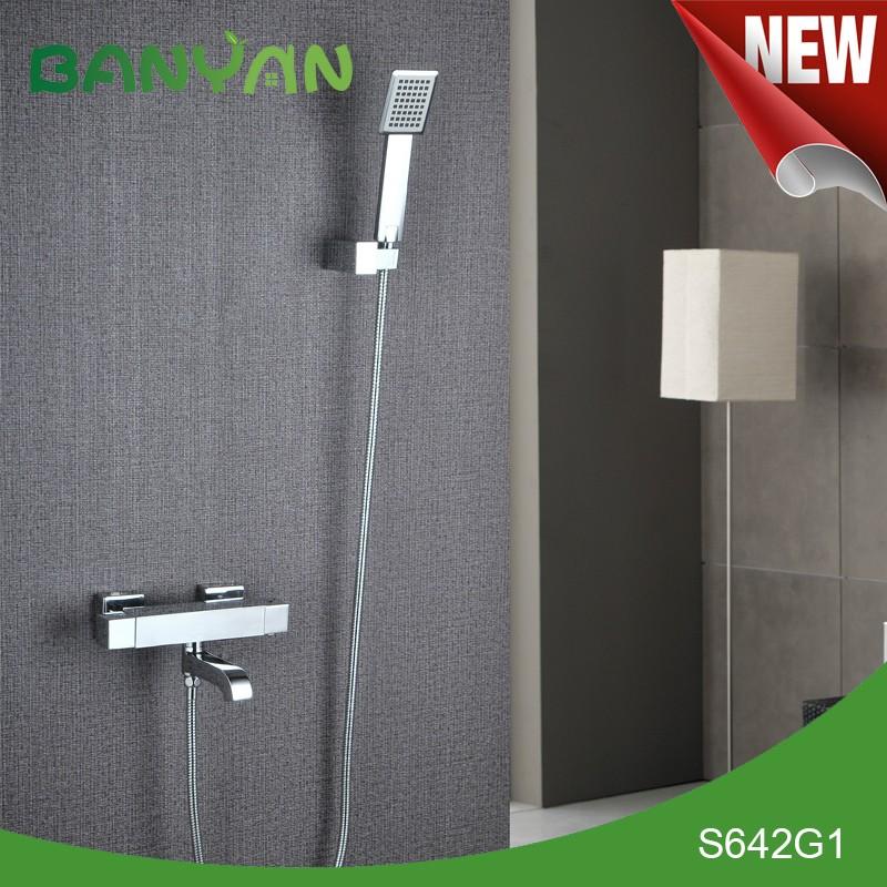 Montado en la pared de ba o de lat n grifo de la ducha con - Grifo de la ducha ...