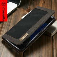 2016 hot selling products fashion jean + PU leather case for Samsung S7edge,for S7edge mobile cover wallet case