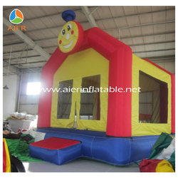 2016 kids inflatable bouncer house /red and yellow inflatable bouncer