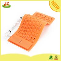 Hot USB flexible waterproof silicone 85 key mini bluetooth keyboard