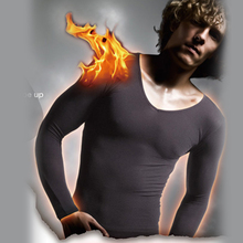 Men's Body Slim Germanium Titanium Silver Heated Long Underwear